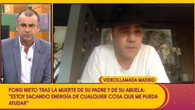 Fonsi Nieto reaparece en Sálvame tras la muerte de su abuela y su padre