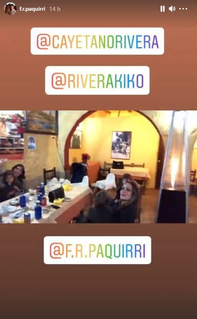 Eva González, Lourdes Montes e Irene Rosales, presentes en el reencuentro de los hermanos Rivera