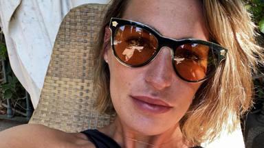 Eugenia Osborne de vacaciones en la playa