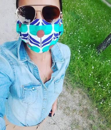 Chenoa triunfa en Instagram con su mascarilla
