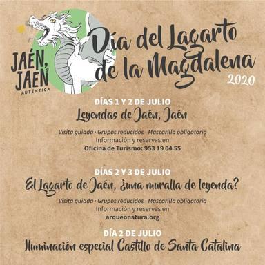 El Castillo de Santa Catalina se iluminará de rojo el Día del Lagarto de la Magdalena
