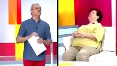 Ramón García y mujer dormida