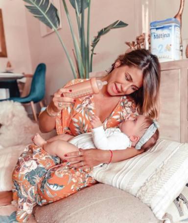 Elena Tablada y su segunda hija Camila