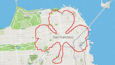 Lenny, el runner de San Francisco que crea dibujos durante sus carreras