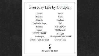"""Coldplay revela en un anuncio de un periódico irlandés el contenido de su álbum """"Everyday Life"""""""