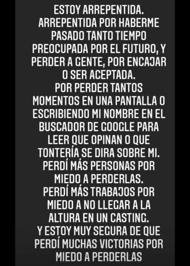 Instagram: Texto Lucía Rivera