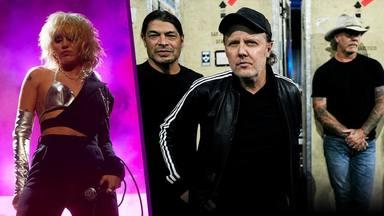 La colaboración que nunca hubieras imaginado: Miley Cyrus y Metallica juntos sobre el escenario
