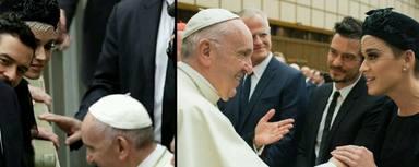 Katy Perry y Orlando Bloom con el Papa.