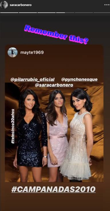 Sara Carbonero junto a Pilar Rubio y Marta Fernández en las Campanadas