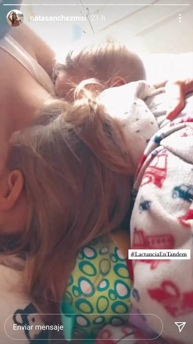 Truco Natalia Sánchez lactancia en tándem