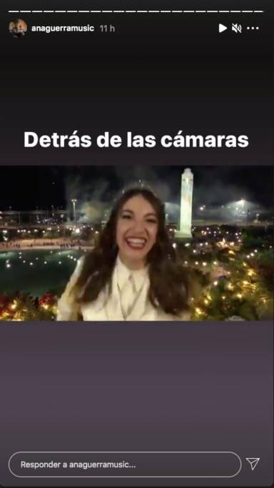 Ana Guerra emocionada detrás de las cámaras