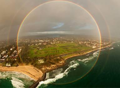 El arcoiris completo existe