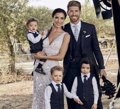 Los hijos de Sergio Ramos y Pilar Rubio en su boda