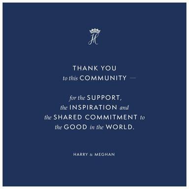 El mensaje de Harry y Meghan Markle con el que se han despedido