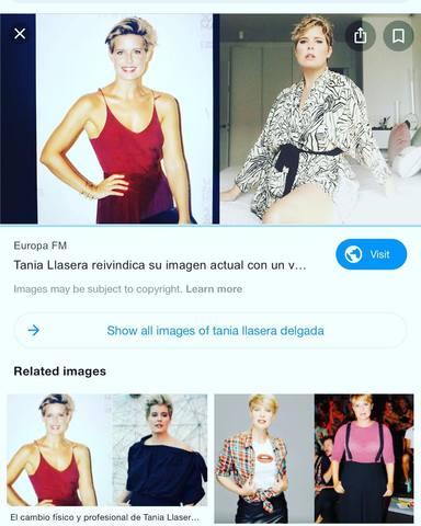 El antes y después de Tania Llasera