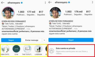 Efrén Reyero cuenta oficial en Instagram