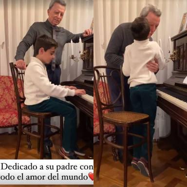 Sorpresa hijo Ortega Cano cumpleaños feliz piano