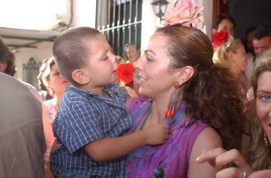 David Flores junto a su madre Rocío Carrasco