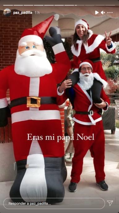 Paz Padilla y su marido disfrazados de Papá Noel