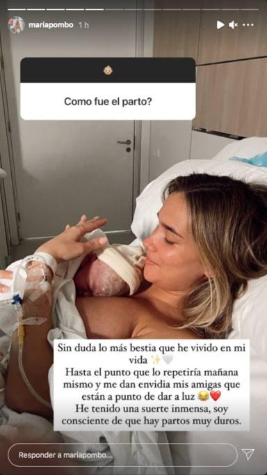 María Pombo habla sobre el parto