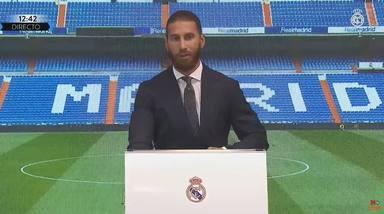 Sergio Ramos se rompe en llanto en su despedida del Real Madrid tras 16 temporadas