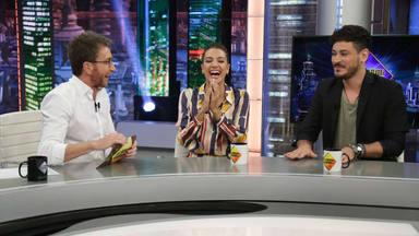 Pablo Motos, Ana Guerra y Luis Cepeda en 'El Hormiguero'