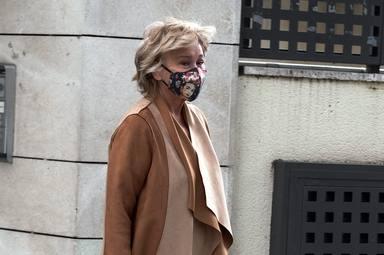 Mila Ximenez sale de casa, en Madrid