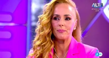 Rocío Carrasco se emociona con unas bonitas palabras de su hijo que le traslada Marta López en una publicidad