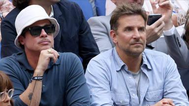 Brad Pitt y Bradley Cooper en la final del US Open 2021