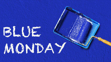 blue monday pintura