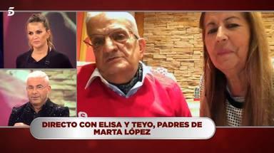 Los padres de Marta López, por primera vez juntos en televisión, hablan sobre Alfonso Merlos