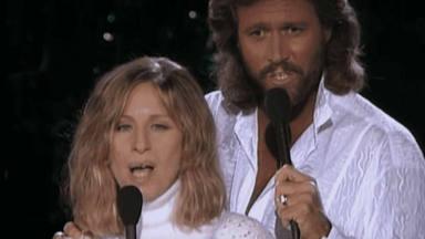 Barbra Streisand y Barry Gibbs