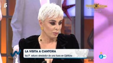 Isa Pantoja saltó la valla de Cantora para poder ver a su madre