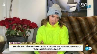 María Patiño enfado monumental con Rafael Amargo y la dirección de 'Socialité'