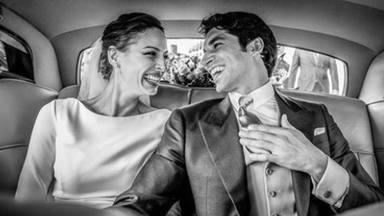 Eva González y Cayetano el día de su boda