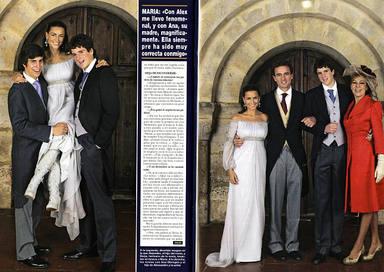 Álex Lequio y Borja Palacios en la boda de María Palacios