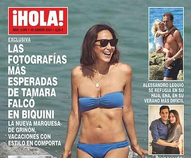 Lequio, portada de HOLA junto a Ena