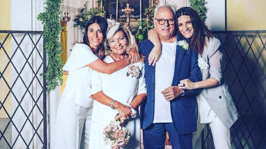 Laura Pausini bodas de oro de sus padres
