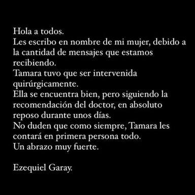 Comunicado Ezequiel Garay