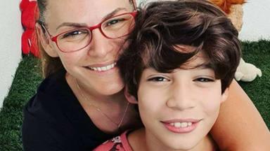 Fabiola Osborne y su hijo Carlos