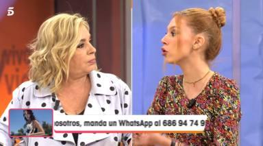 Emma García, sin pelos en la lengua, confiesa en pleno directo su nefasta relación con Carmen Borrego