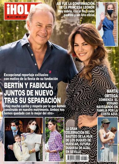 Bertín Osborne y Fabiola Martínez juntos en la portada de ¡HOLA! después de su separación