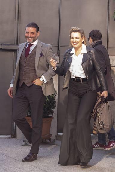 Ainhoa Arteta y Matías Urrea en una imagen de archivo, del tiempo en el que eran matrimonio aún