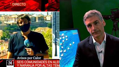 El hombre del tiempo de TVE lanza una indirecta al reportero que se quejó de que el calor fuese noticia