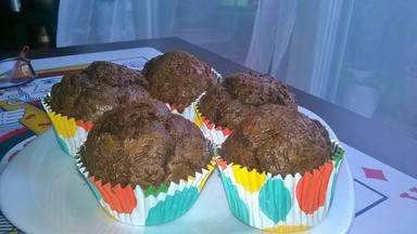 Receta de muffins de chocolate sanas