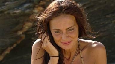 Olga Moreno recibiendo noticias de su madre en Supervivientes 2021