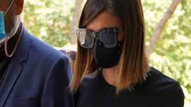Alba Santana durante el funeral de Mila Ximénez