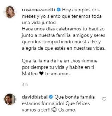 Comentario David a Rosanna