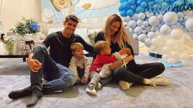 La familia de Álvaro Morata y Alice Campello al completo