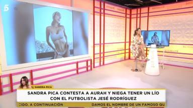 """Sandra Pica, enfadada, responde a las acusaciones que le relacionan con Jesé Rodríguez: """"Me habían confundido"""""""